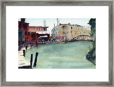 Petaluma Turning Basin Framed Print