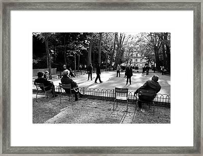 Petanque Framed Print