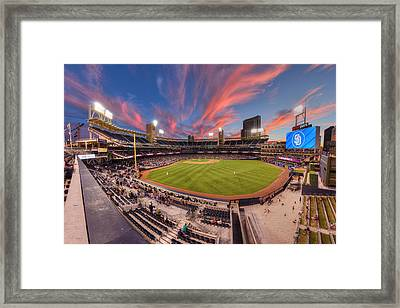 Petco Park - Farewell To 2015 Season Framed Print by Mark Whitt