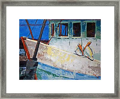Pete And Repete Framed Print by Suzanne McKee
