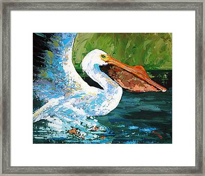Pete Coming In For A Landing Framed Print by Suzanne McKee