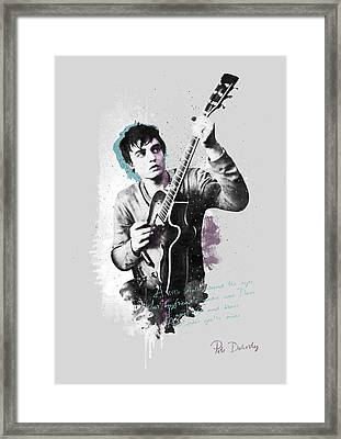 Pete Doherty A Little Death Around The Eyes Framed Print by BONB Creative