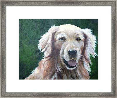Framed Print featuring the painting Pete by Nancy Jolley