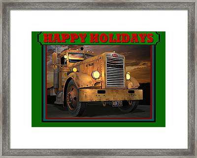 Pete Ol' Yeller Happy Holidays Framed Print by Stuart Swartz