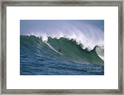 Pete On A Perfect Day At Mavericks Framed Print