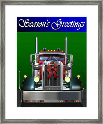 Pete Season's Greetings Framed Print by Stuart Swartz