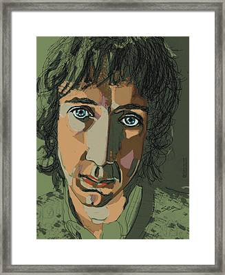 Pete Townshend - Behind Blue Eyes  Framed Print by Suzanne Gee