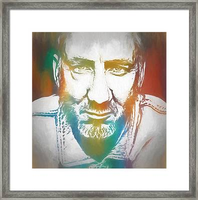 Pete Townshend Color Tribute Framed Print by Dan Sproul