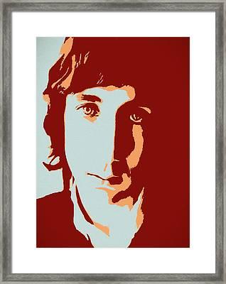 Pete Townshend Pop Art Framed Print by Dan Sproul