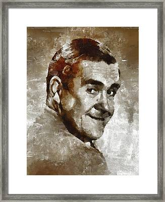 Peter Butterworth, Carry On Actor Framed Print by Mary Bassett