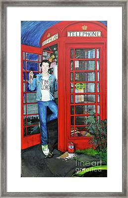 Peter Capaldi Dr Who Putting You Through Framed Print