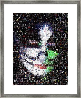 Peter Criss Kiss Mosaic Framed Print