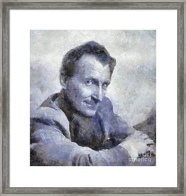 Peter Cushing By Sarah Kirk Framed Print