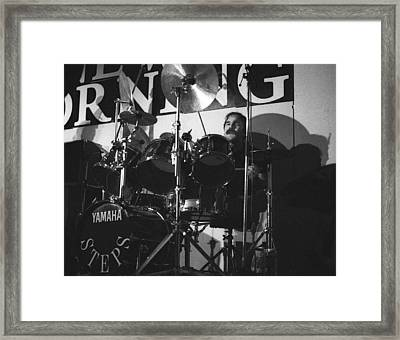 Peter Erskine Steps In The Morning Framed Print by Philippe Taka
