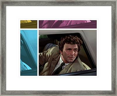Peter Falk 1973  Framed Print