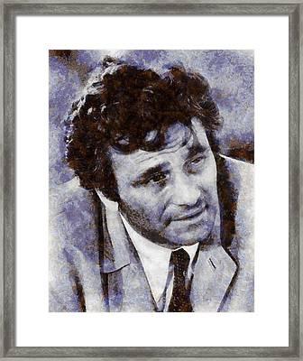 Peter Falk Columbo Framed Print by Esoterica Art Agency