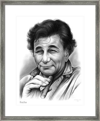 Peter Falk Framed Print