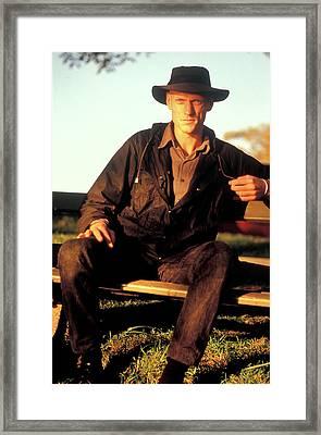 Peter Garrett, Lead Singer Of Midnight Oil, Sydney Harbour, 1989 Framed Print by Sean Davey