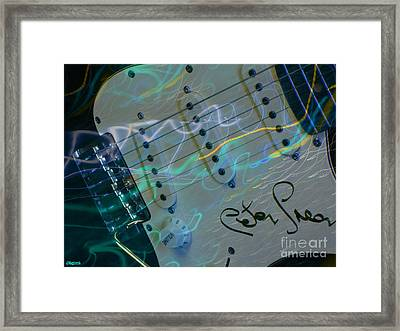 Peter Green Strat Framed Print by Art by MyChicC