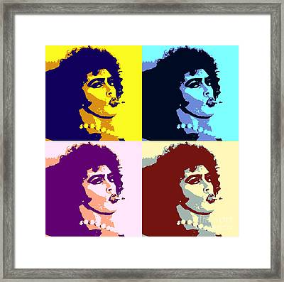 Peter Hinwood As Rocky Horror Pop Art Poster Framed Print by Pd