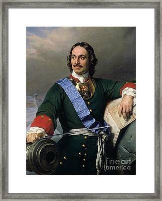 Peter I The Great Framed Print by Delaroche