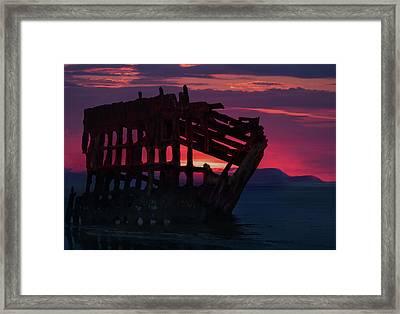 Peter Iredale Shipwreck Framed Print