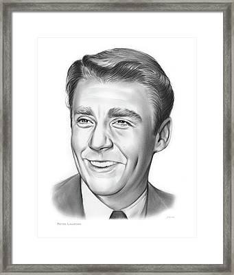 Peter Lawford Framed Print by Greg Joens