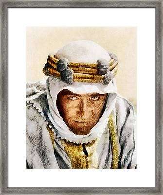 Peter O'toole As Lawrence Of Arabia By John Springfield Framed Print