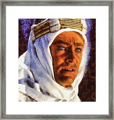 Peter O'toole As Lawrence Of Arabia Framed Print by Esoterica Art Agency