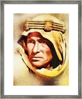 Peter O'toole As Lawrence Of Arabia Framed Print