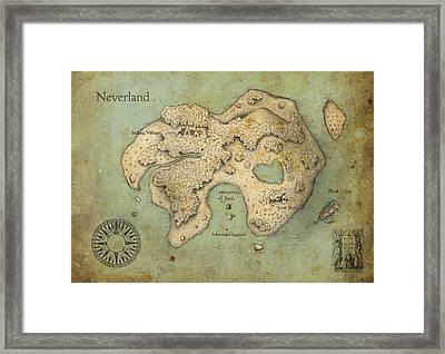 Peter Pan Neverland Framed Print