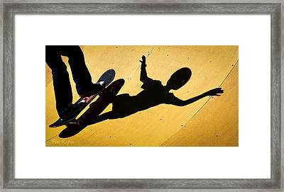 Peter Pan Skate Boarding Framed Print