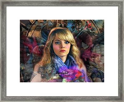 Framed Print featuring the digital art Peter Parker's Haunting Memories Of Gwen Stacy by Barbara Tristan