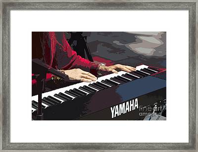 Peter Plays In Cuenca - Painting Framed Print by Al Bourassa