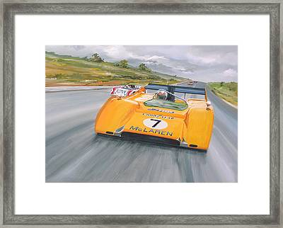 Peter Revson Can Am Framed Print