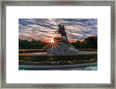 Peter Rides At Dawn Framed Print