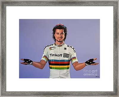 Peter Sagan Painting Framed Print by Paul Meijering