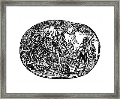 Peter Salem, African-american Patriot Framed Print by Photo Researchers