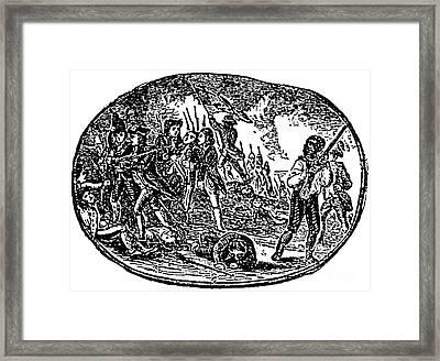 Peter Salem, African-american Patriot Framed Print