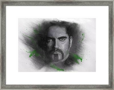 Framed Print featuring the drawing Peter Steele, Type O Negative by Julia Art