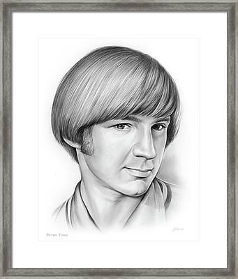 Peter Tork Framed Print by Greg Joens