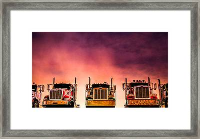 Framed Print featuring the photograph Peterbilt  Landscape by Bob Orsillo
