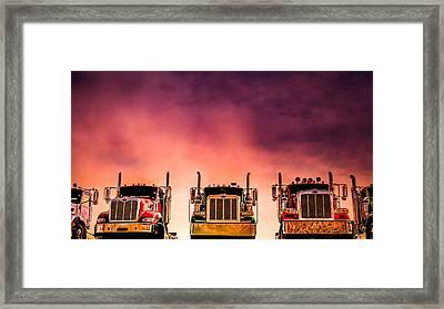 Peterbilt  Landscape Framed Print by Bob Orsillo