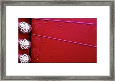 Peterbuilt Hood And Lamps Framed Print