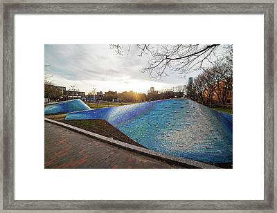 Peters Park South End Boston Landwave Mosaic Boston Ma Framed Print by Toby McGuire