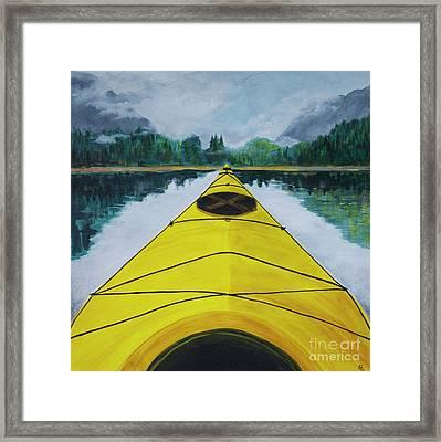 Petersburg Creek Framed Print by Cynthia Lagoudakis