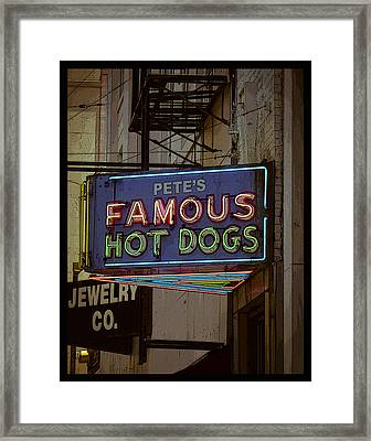 Pete's Famous Poster Framed Print