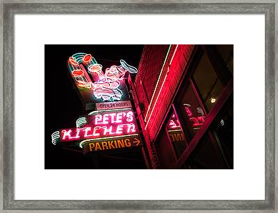 Pete's On Colfax Framed Print