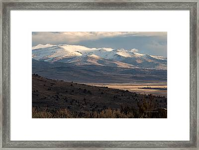 Pete's Valley At Dawn Framed Print