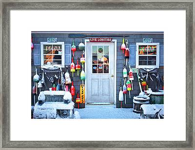 Peteys Lobster Pound Rye Nh Framed Print
